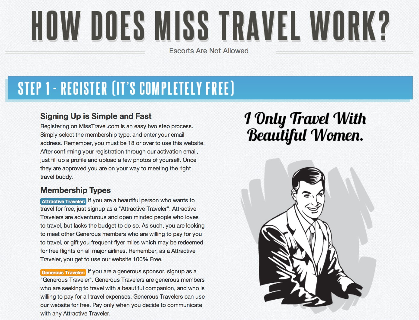 Miss travel dating review
