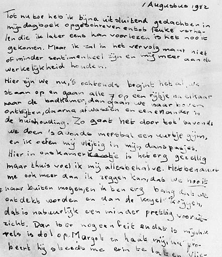 diary entries from anne frank The first page of the diary, which anne franc received for her the film diary of anne frank by george stevens receives a number the restored entries.